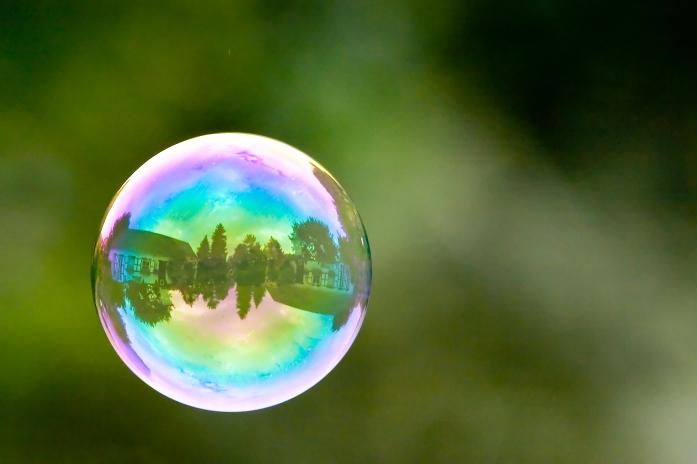 house inside a bubble