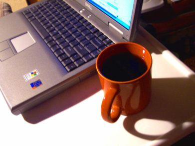 laptop and coffee